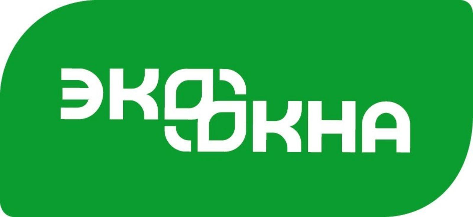 Логотип ЭКООКНА — один из лидеров российского рынка светопрозрачных конструкций. С 2002 года компания производит, поставляет и обслуживает двери и окна из пластикового профиля VEKA, алюминия и дерева, а также зенитные фонари, зимние сады, входные группы, фасадные системы.